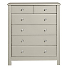 more details on Collection Osaka 4+2 Drawer Chest - Soft Grey.