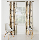 more details on Collection Aimee Floral Lined Curtains - 168x183cm - Natural