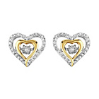 more details on Sterling Silver 9ct Gold Plated 0.08ct tw Diamond Earrings.