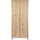 more details on Scandinavia 2 Door Wardrobe - Pine.
