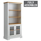 more details on Heart of House Westbury Glazed Bookcase - White.