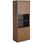 more details on Hygena Modular 2 Door Tall Wall Cabinet - Walnut/Graphite.