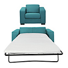 more details on Hygena Ava Fabric Sofa Bed and Chair - Teal.