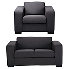 more details on Hygena Ava Compact Fabric Sofa and Chair - Charcoal.