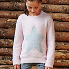 more details on Cherokee Girls Fluffy Star Jumper Pink.