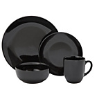 more details on Collection Bosa 16 Piece Stoneware Dinner Set - Black.