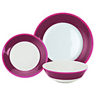 more details on ColourMatch 12 Piece Dinner Set - Purple Fizz Rim.
