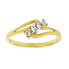more details on 9ct Gold Cubic Zirconia Diagonal 3 Stone Ring.