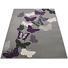 more details on Butterflies Rug - 80x150cm - Grey.