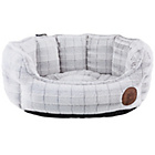 more details on Petface Small Oval Furrry Bed - White.