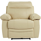more details on HOME New Paolo Power Recliner Chair - Ivory.