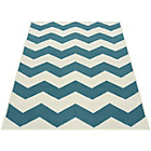 more details on Chevron Rug - 60x110cm - Teal.