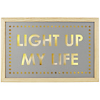 more details on Collection Light Up My Life Wooden Light Box.