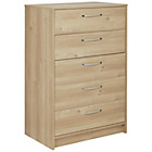 Collection Tilbury 5 Drawer Chest - Oak Effect