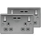 more details on BG Double Socket with 2 USB Ports (2.1A) – Twin Pack.