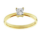 more details on 9ct Gold 0.50ct Princess Cut Diamond Engagement Ring.