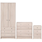 more details on HOME New Malibu 3 Piece Bedroom Package - Beech Effect.