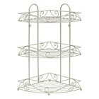 more details on Collection 3 Tier Bathroom Corner Shelf - Cream.