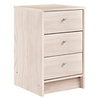 more details on HOME New Malibu 3 Drawer Bedside Chest - Beech Effect.