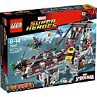 more details on LEGO Super Heroes Spiderman Web Ultimate Bridge - 76057.