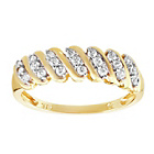 more details on 9ct Gold Cubic Zirconia Cluster Eternity Ring.