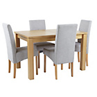 more details on Swanbourne Extendable Table and 4 Grey Chairs.