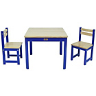 more details on Tikk Tokk Boss Wooden Nursery Table and Chairs Set - Blue.