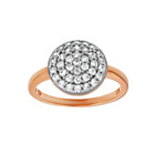 more details on 9ct Rose GoldPlated Silver Cubic Zirconia Circular Pave Ring