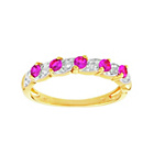 more details on 18ct Gold Plated Silver Ruby & Diamond Accent Eternity Ring