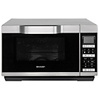 more details on Sharp R861 25L 900W Flat Tray Combi Touch Microwave -Silver.