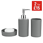more details on ColourMatch Bathroom Accessory Set - Flint Grey.