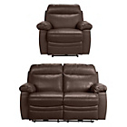 more details on Collection New Paolo Reg Power Recliner Sofa/Chair - Choc.