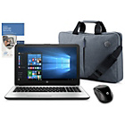 "more details on HP 15"" Intel Pentium 4GB 1TB White - Inc Bag, Mouse & McAfee"