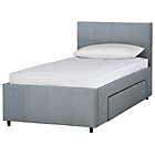 more details on Hygena Beckett Single 1 Drawer Bed Frame - Grey Fabric.