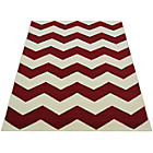 more details on Chevron Rug - 60x110cm - Red.