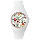 more details on Ice Ladies Floral Dial Silicone Watch.