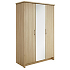 more details on Collection Truro 3 Door Mirrored Wardrobe - Oak Effect.