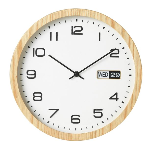 buy collection eva oak finish day and date clock at your online shop for clocks. Black Bedroom Furniture Sets. Home Design Ideas