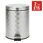more details on HOME 5 Litre Bathroom Pedal Bin - Stainless Steel.