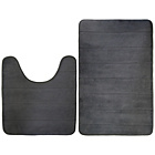 more details on Memory Foam 2 Piece Bathroom Mat Set - Grey.