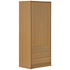 more details on New Malibu 2 Door 3 Drawer Wardrobe - Oak.