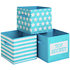 more details on Top Secret Canvas Storage Boxes - 3 Pack.