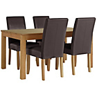 more details on Collection Hampshire Extendable Table and 4 Chocolate Chairs
