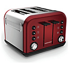 more details on Morphy Richards 242030 Accents Four Slice Toaster - Red.