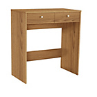more details on HOME New Malibu 2 Drawer Dressing Table - Oak Effect.