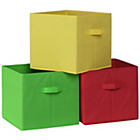 more details on Canvas Boxes 3 Pack - Multicoloured.
