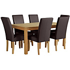 more details on Collection Hampshire Dining Table & 6 Chairs -Oak/Chocolate.
