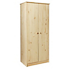 more details on HOME Jakob 2 Door Wardrobe - Pine.
