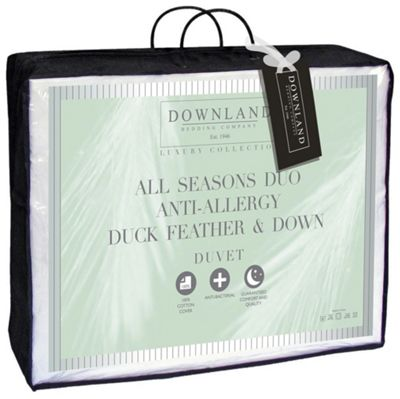 Buy Downland Duck Feather Down All Seasons 15 Tog Duvet