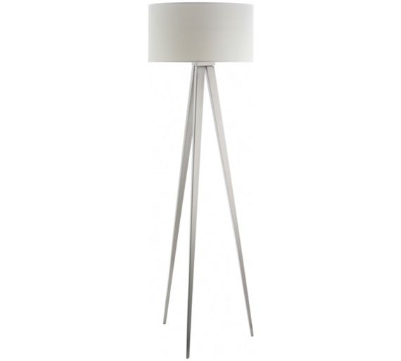 Buy habitat yves white metal tripod floor lamp at argosco for Habitat metal floor lamp